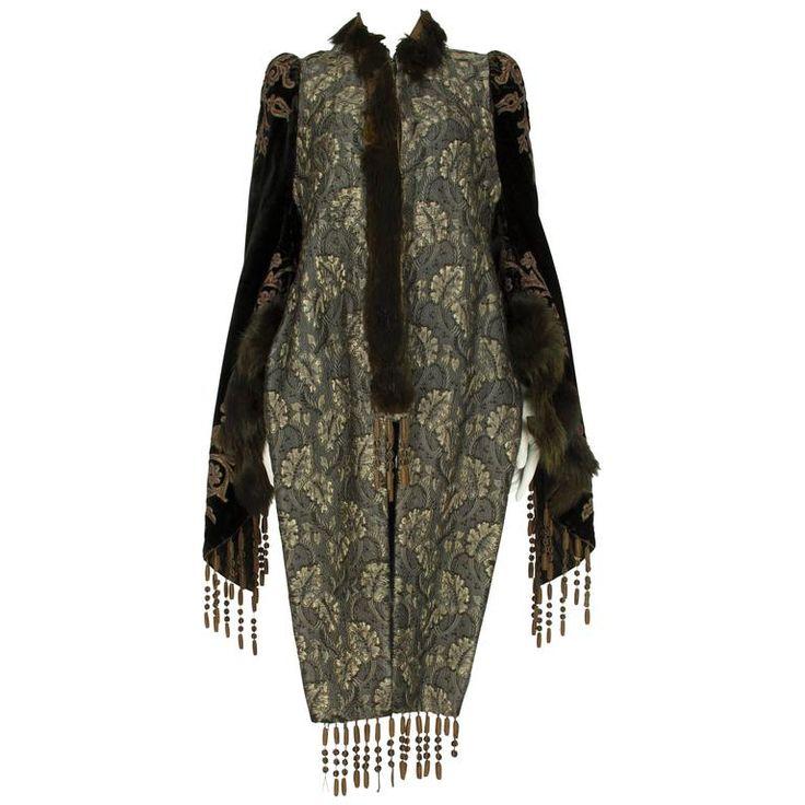 Extravagant Velvet Jacket with Fur Trim