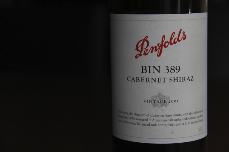 Wine label- Penfolds Bin 389 2001 Cabernet.  Could it get any better?