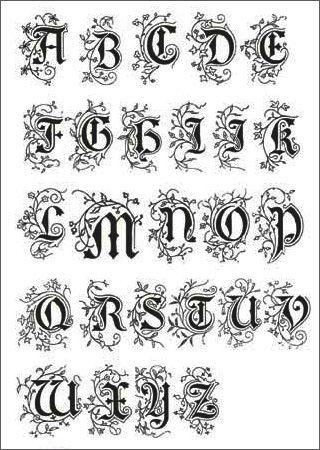 kalligrafie alfabet - Google zoeken