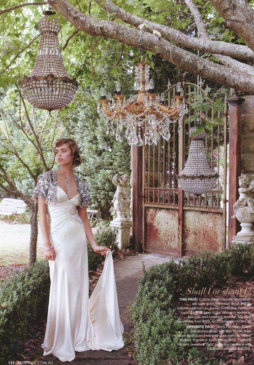 Garden Bling...Wedding Dressses, Vintage Chand, Vintage Romances, Brides Dresses, Wedding Style, Vintage Wedding Dresses, Gardens Wedding, The Dresses, Vintage Style