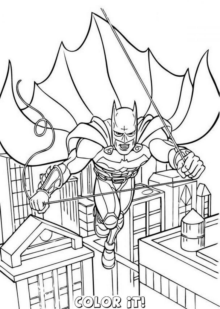 Batman Coloring Pages Selection