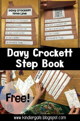 Learning about Davy Crockett: American Folk Hero, in Kindergarten. Includes a FREEBEE!