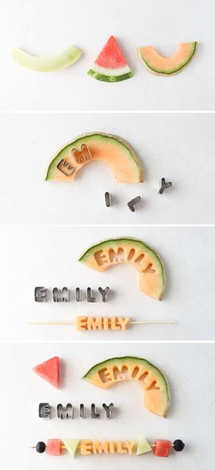 .Fruit letters