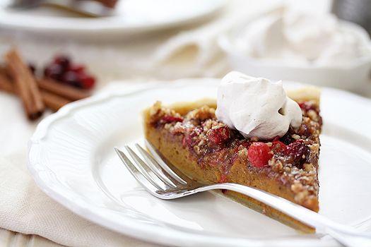 pumpkin cranberrypecan tart