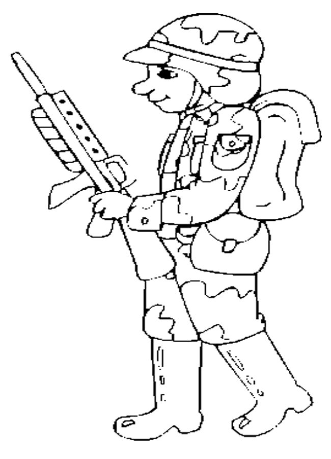 Dibujos de soldado profesional para colorear y pintar. Imprimir ...