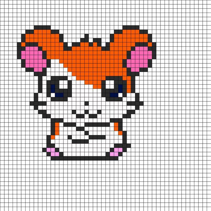 Hamtaro Perler Bead Pattern | Bead Sprites | Characters Fuse Bead Patterns