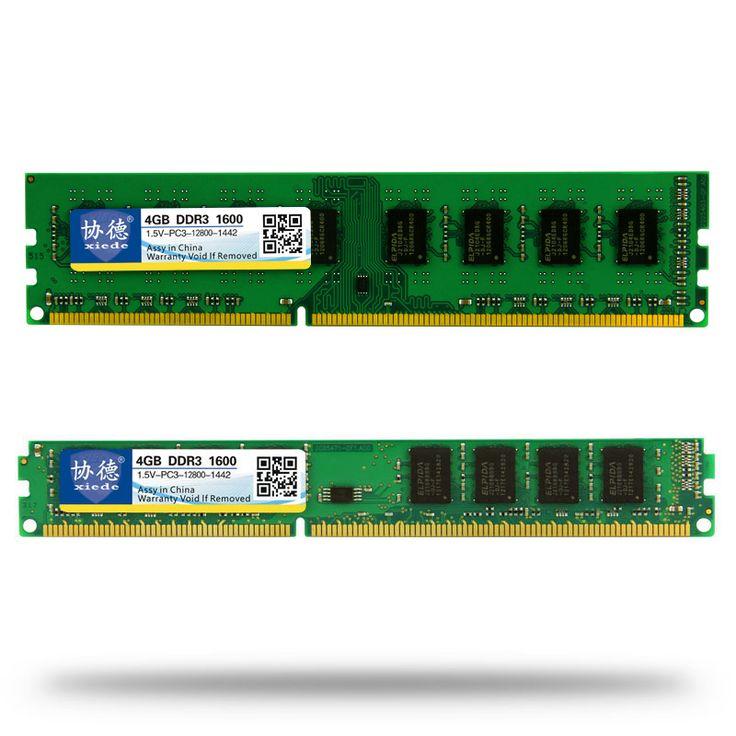 Comercio al por mayor Xiede DDR3 1600/PC3 12800 2 GB 4 GB 8 GB 16 GB PC de escritorio Memoria RAM Compatible DDR 3 1333 MHz/1066 MHz PC3-12800 10600