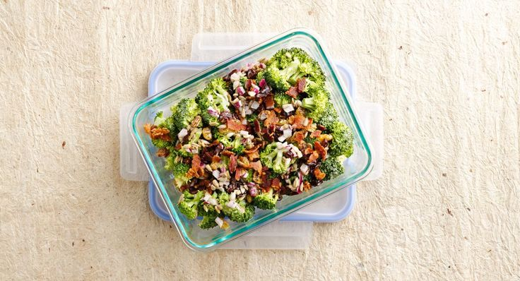 Broccoli-Cranberry Salad recipe - Broccoli florets are tossed with crunchy sunflower seeds and a colorful mélange of dried fruits, then coated with a zesty sauce. Though you can enjoy this salad right away, it only becomes more flavorful overnight, making it a perfect make-ahead recipe.