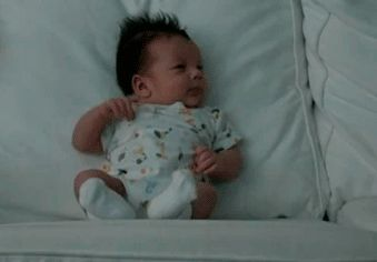 Adorable Sneezing Baby GIF to ease the pain of Life.