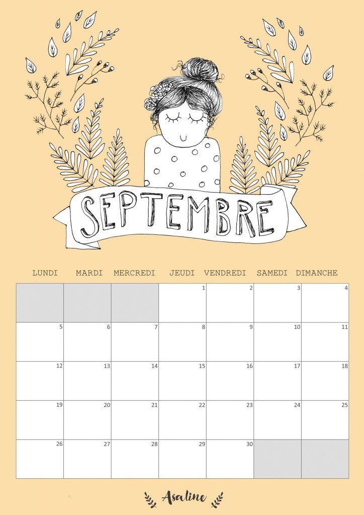 ASALINE _calendrier septembre 2016 à imprimer gratuit_printable_couleur