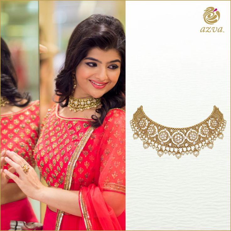 Azva diamond polki choker. Modern bridal jewellery. #Goldjewellery #luxury #style