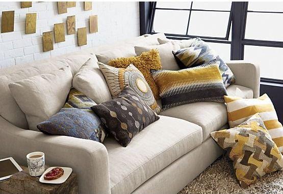 Crate & Barrel deep seat sofa