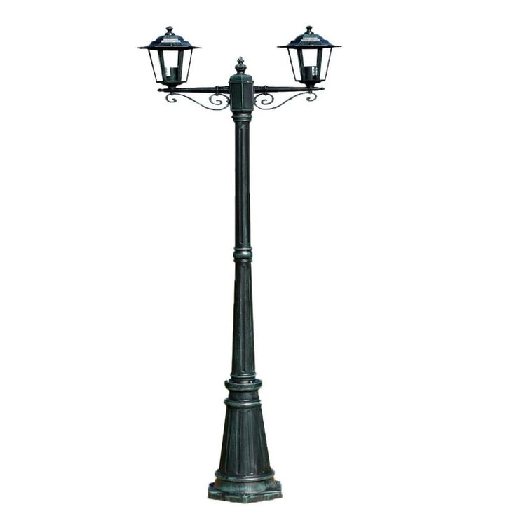 Patio Home Lighting Outdoors Garden Light 2 Lamps Post Porch Yard Modern Green #PatioHomeLighting #Modern