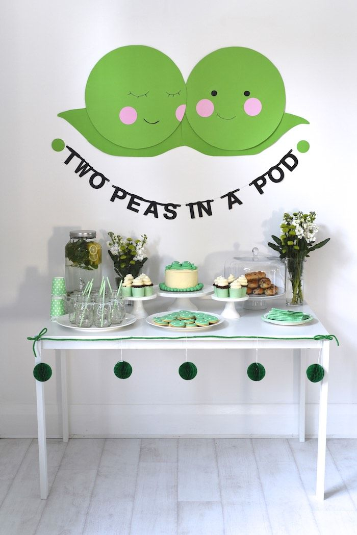 Two Peas in a Pod themed baby shower