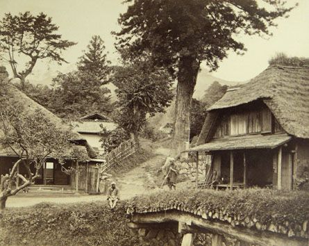 Scene along the Tokaido Road, Japan, 1868.