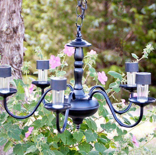 You Might Want To Grab 1 Solar Lights When You See These Spectacular Yard Ideas In 2020 Diy Chandelier Outdoor Chandelier Solar Chandelier