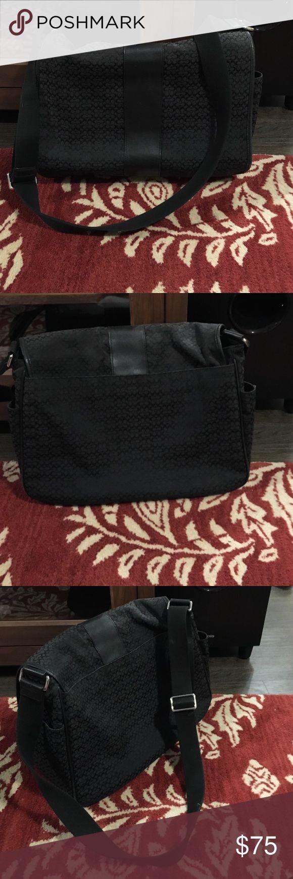 Coach Messenger Bag Black Coach messenger bag. Great as a laptop carrier! Coach Bags Laptop Bags