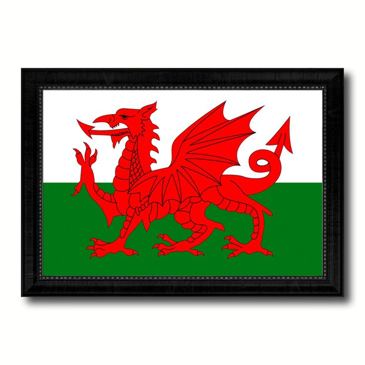 Wales Country Flag Canvas Print, Picture Frame Home Decor Gifts Wall