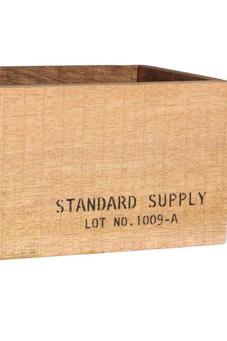Liten förvaringslåda i trä - Natur - Home All   H&M FI