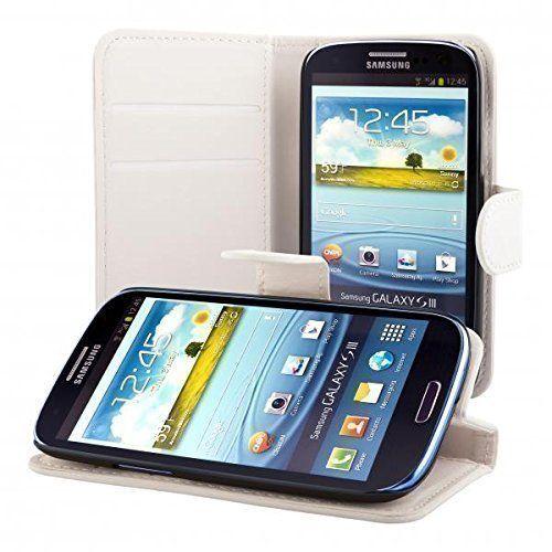 ECENCE Samsung Galaxy S3 i9300 S3 Neo i9301 Custodia a Portafoglio Protettiva wallet flip case cover bianco + protezione dello schermo incluso 22030303, http://www.amazon.it/dp/B00M1RADPM/ref=cm_sw_r_pi_awdl_9qPSub0KVCDX6