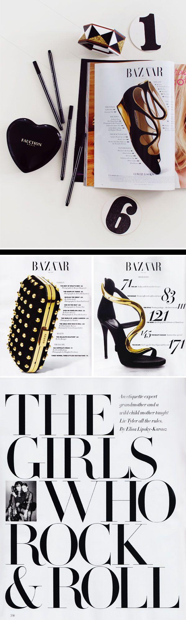 harpersEditorial, Harpers Bazaar, Magazines Layout, Harpers Magazines