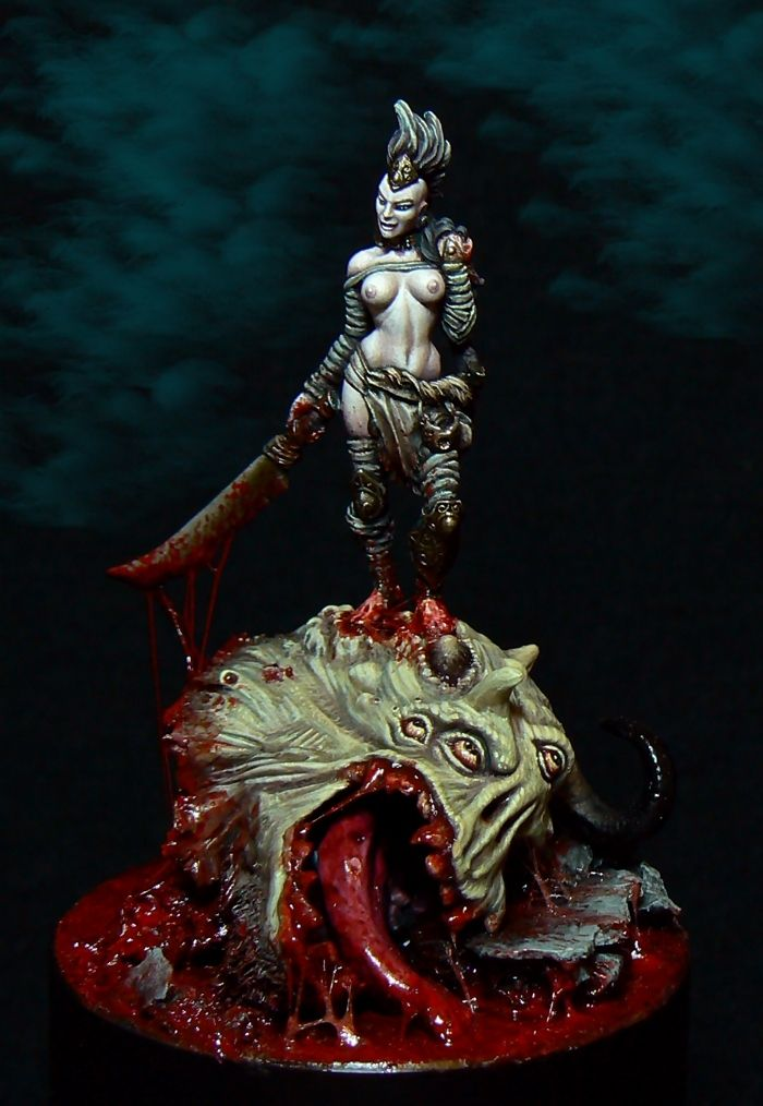 Rajha the demon huntress converted & painted by Francesco ...