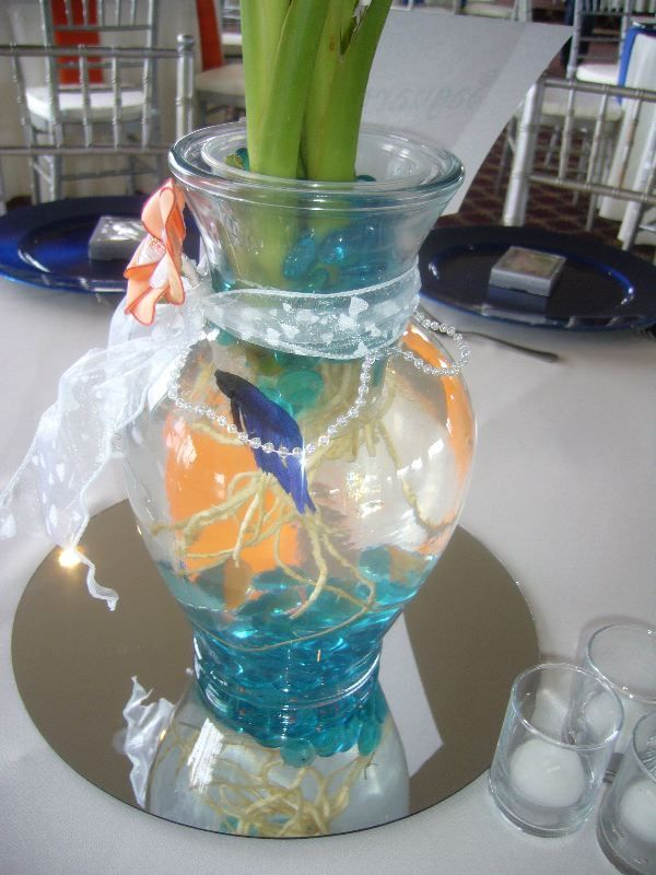 52 best images about sweet sixteeen on pinterest ballet for Fish centerpieces wedding receptions