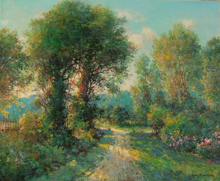 Jean Kevorkian, French, Au Soleil Couchant, oil on canvas