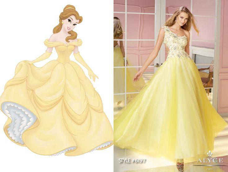 disney inspired prom dresses | Belle prom dress