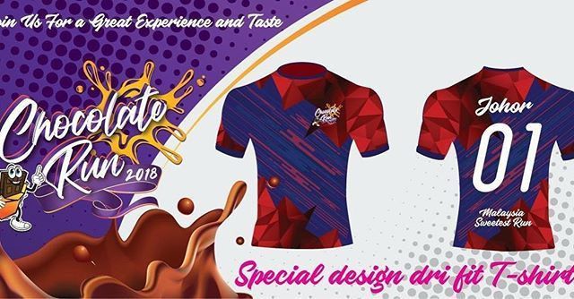 Special Design Dry Fit Tshirt Of Chocolate Run 2018 Johor Join Us For The Excitement Http Ift Tt 2ecq0e8 Every Cycling Event Workout Tshirts Sport Event