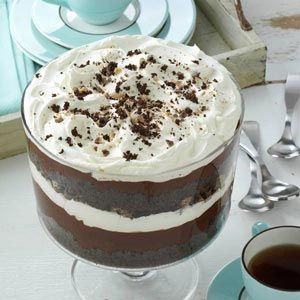 Chocolate Trifle maybe add fruit!