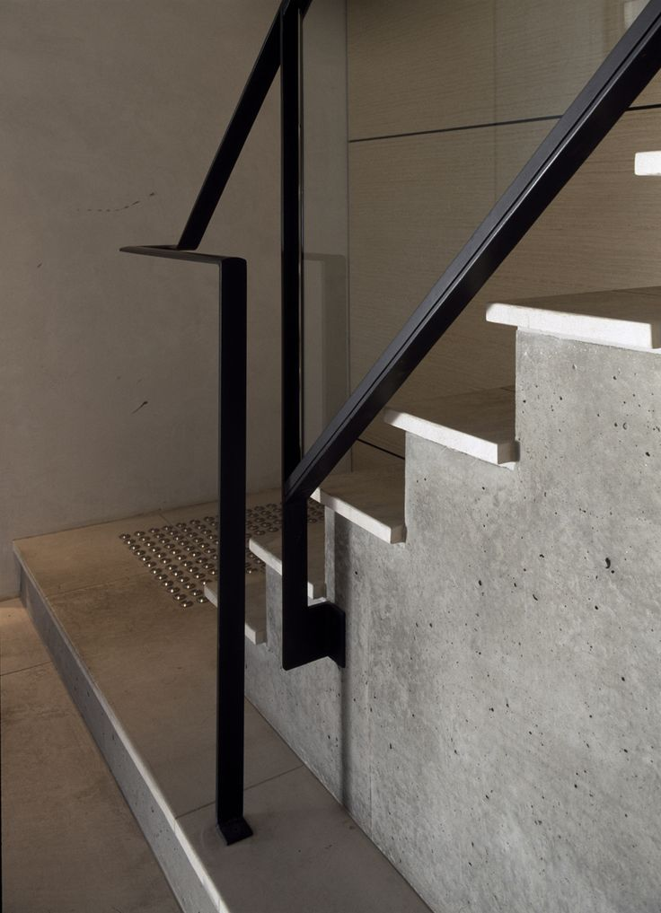 Black Steel Handrail At Conventry Street Workplace By B E | Steel Handrails For Concrete Steps