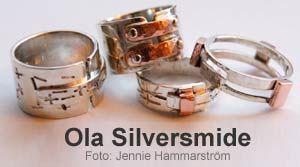 Olabörjade designa smycken 2007 somhan lät en silversmed tillverka, efter ett tag börjadehan själv att tillverka sina idéer.