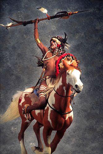 Mounted Lakota Warrior