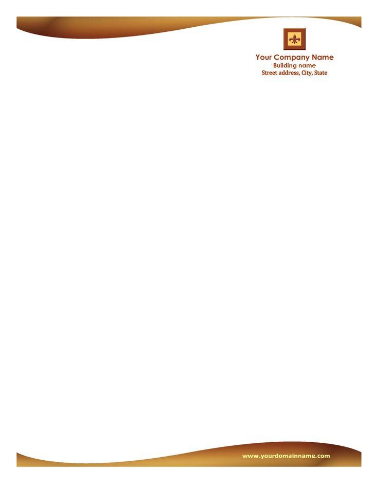 letterhead format word free download