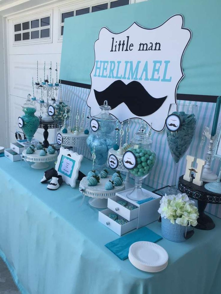 25 best ideas about mustache baby showers on pinterest for Baby shower decoration kits boy