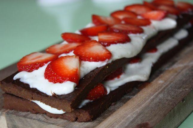 Sjokoladebrownies med søtpotet og kokossukker #chocolate #sweet_potato #cake #kake
