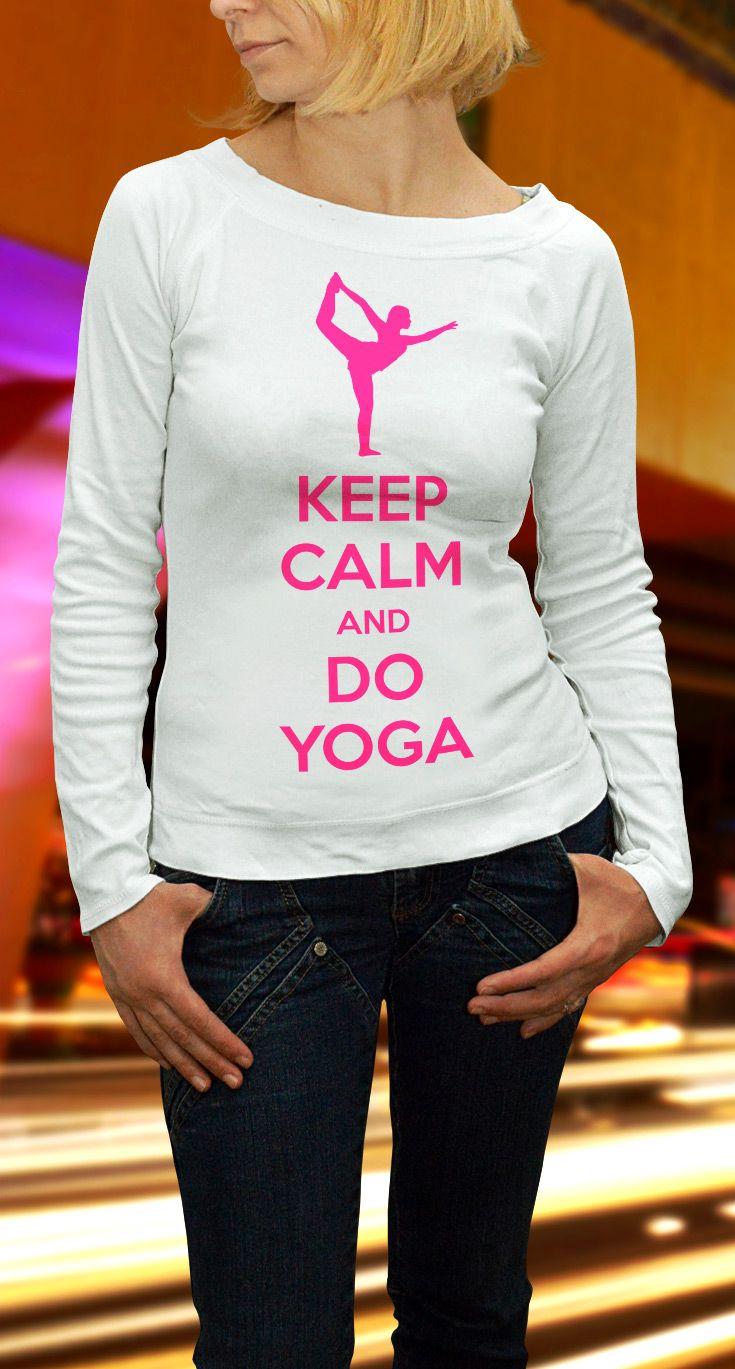 Keep Calm and Do Yoga Unisex Longsleeve Tee - https://www.sunfrog.com/140242430-1064413994.html?68704