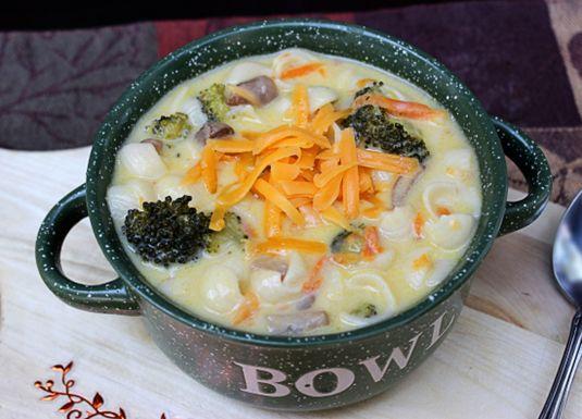 Broccoli Soup With Pasta Recipe — Dishmaps