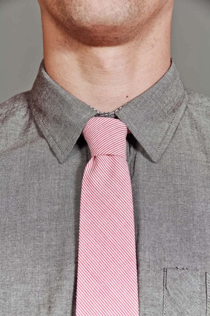 Pink and greyFabrics Neck, Pink Ties, Gray Shirts, Men Fashion, Real Men, Shirts Fabrics, Neck Ties, Goodall Shirts