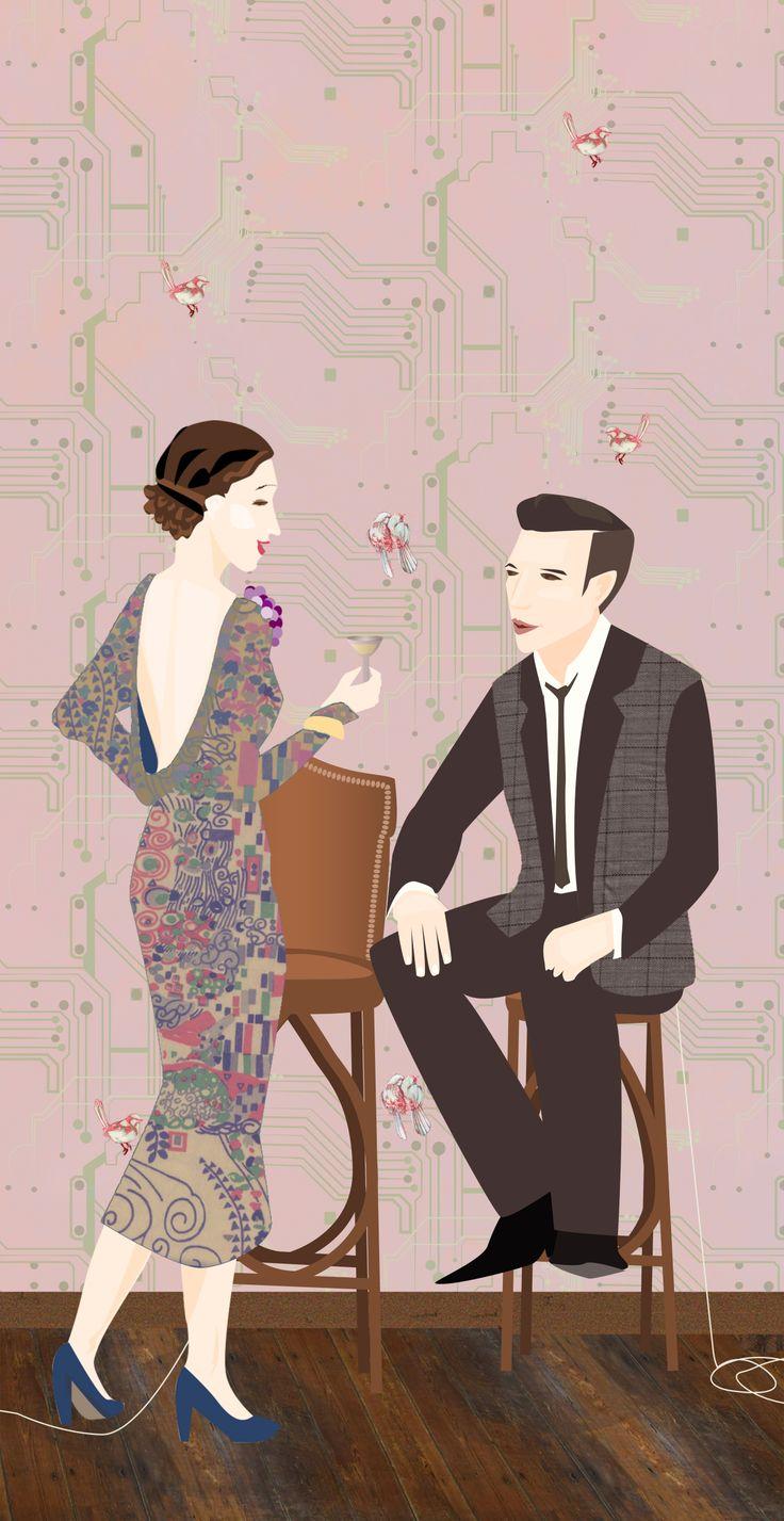 'When they Met' by Lauren Martyn Love in a technological world