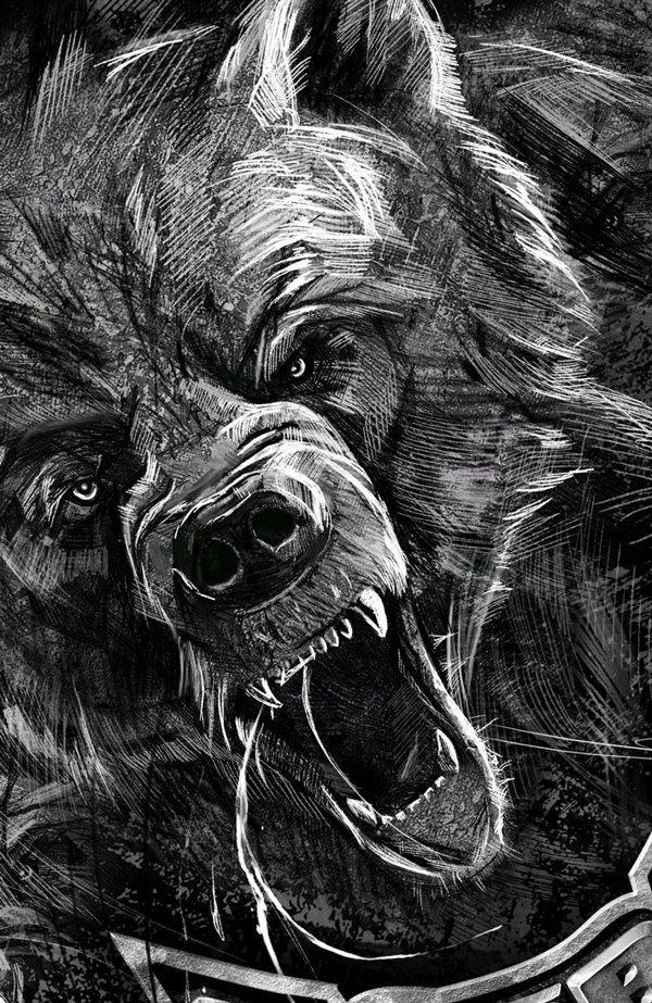Bear roar by Kamila Sharipova