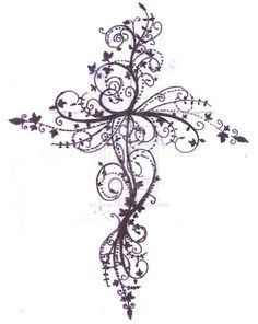 cross+tattoos+for+women | Feminine Cross Tattoos For Women Cross Tattoo Design