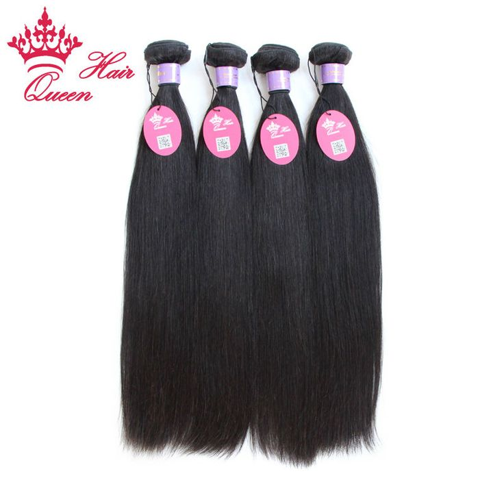 """Queen Hair Products Malaysian Virgin Hair Straight 4pcs Lot Mixed 8""""-30"""" Cheap Human Hair Extensions  No Tangle Can be dyed"""