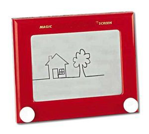 """""""Etch-a-Sketch, because there was no Adobe Illustrator in 1977"""" Richard Ambrose"""