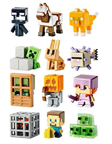 Mattel Minecraft Mini-Figures Obsidian 4 Series - 12 1-Inch Figure Collection @ niftywarehouse.com