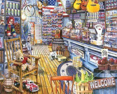 Jackson's General Store (1000 Piece Puzzle by White Mountain)