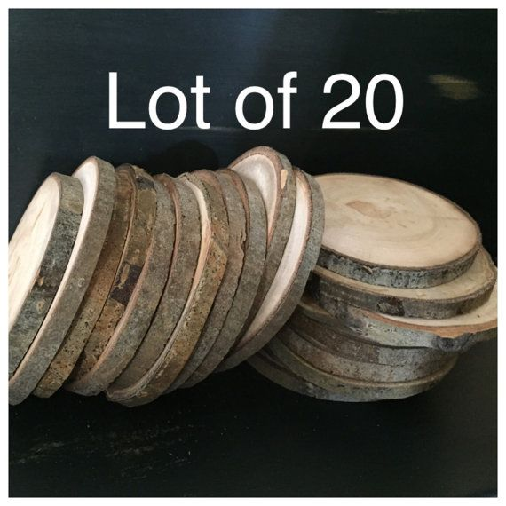 20 qty 44.5 Large Aspen Wood Slices by AspenRusticCreations