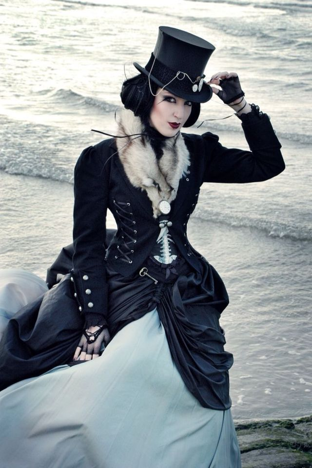 I've always loved this picture! And you'll notice she's beautiful and sexy without showing her bum or bust.  Steampunk