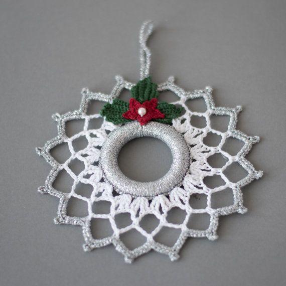 Crochet Natale ghirlanda Natale di SevisMagicalStitches su Etsy